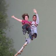 Tandem Bungee skok - Podjunski most 96 m